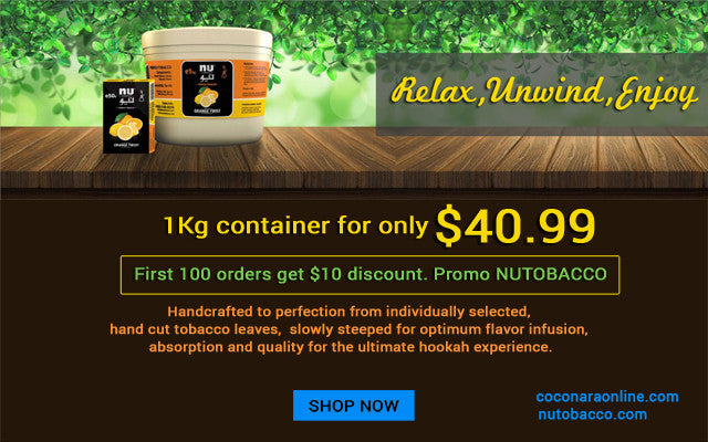 $10 gift for you to use on nu hookah tobacco 1kg