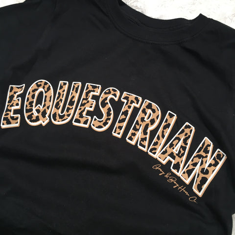 FALL 2020 - The Leopard EQUESTRIAN T-Shirt UNISEX FIT