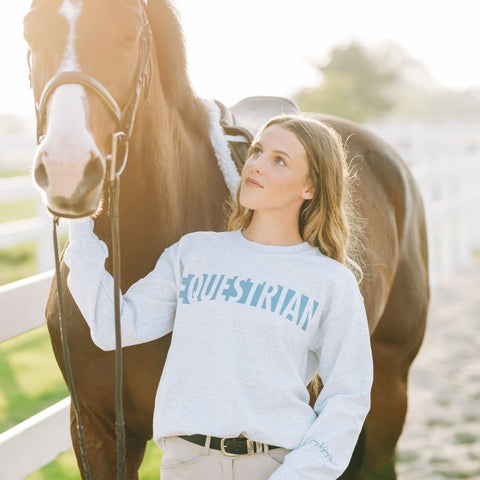 EQUESTRIAN Crew - Gray & Bay Horse Co.