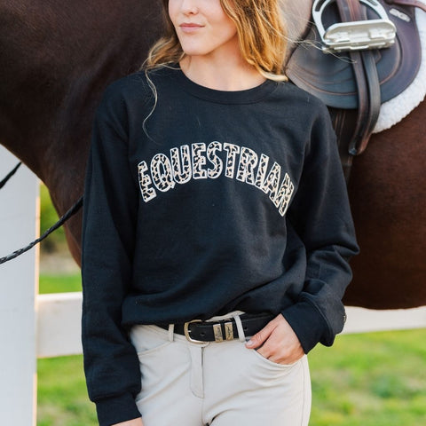The Leopard EQUESTRIAN Crew - Gray & Bay Horse Co.