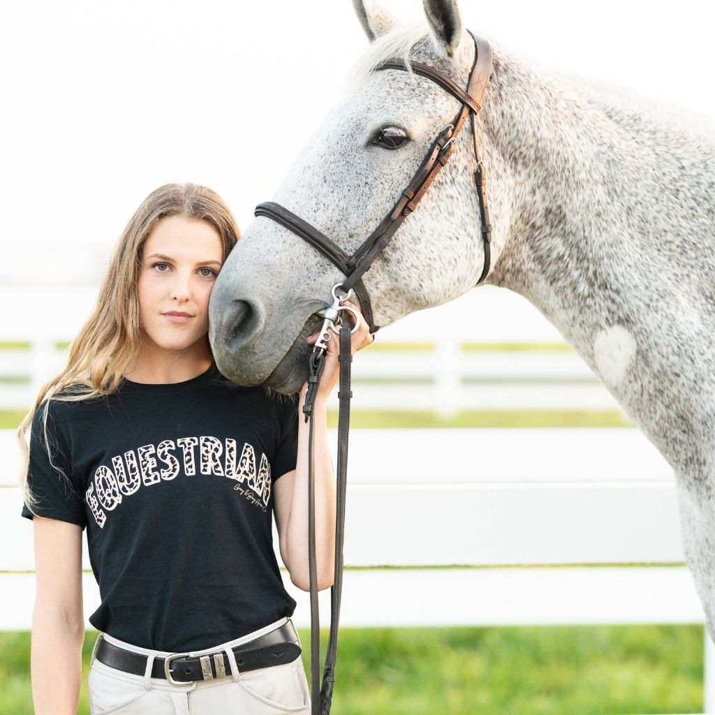 The Leopard EQUESTRIAN T-Shirt UNISEX FIT - Gray & Bay Horse Co.