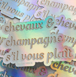 Champagne & Chevaux Sticker - Gray & Bay Horse Co.