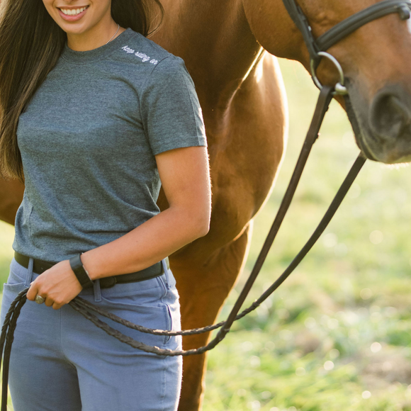 Keep Riding On T-Shirt - Gray & Bay Horse Co.