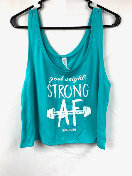 Goal Weight Strong AF Boxy Tank