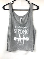 Goal Weight Strong AF Boxy Crop Tank
