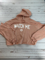 Watch Me Fleece Crop Top Hoody