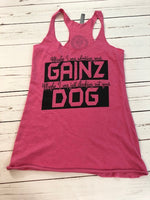 Dog Gainz Racerback Tank