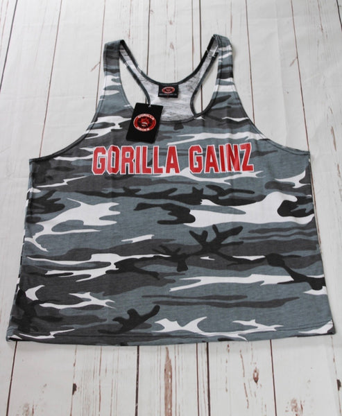 Gorilla Gainz Gray/Black Camo Stringer