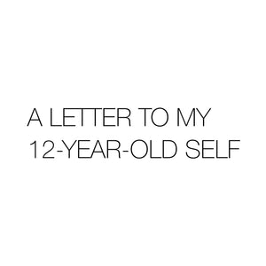 A LETTER TO MY 12-YEAR-OLD SELF BY MARK LEMON