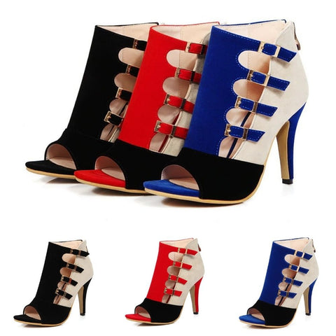 Fashion-Hollow-Out-Buckled-High-Heels