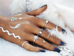 7 Piece Set: Opal Boho Rings Rings Boho Peak Default Title