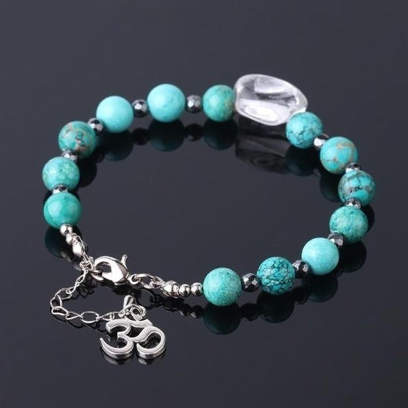 Kith and Kin Turquoise Om Bracelet