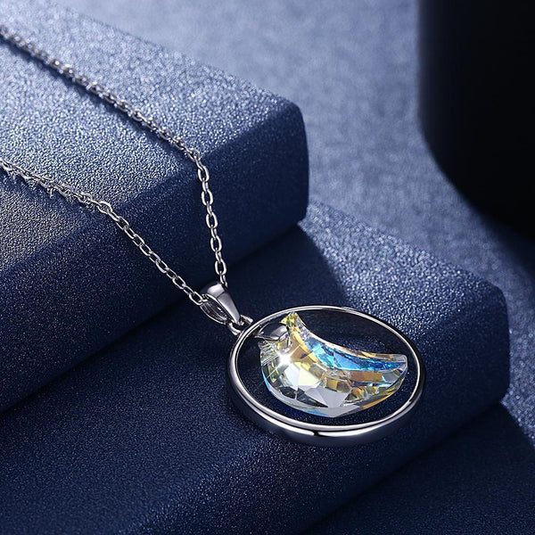 Aurora Borealis Inspired Moon Necklace