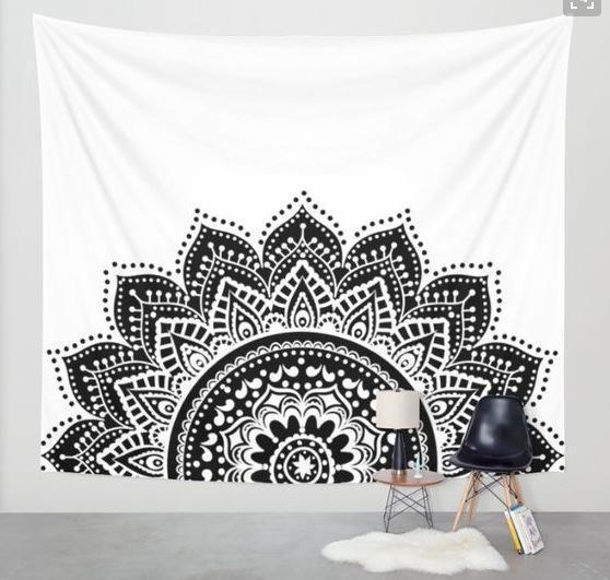 Beautiful Mandala Tapestry Tapestry Boho Peak M2 200cmx150cm
