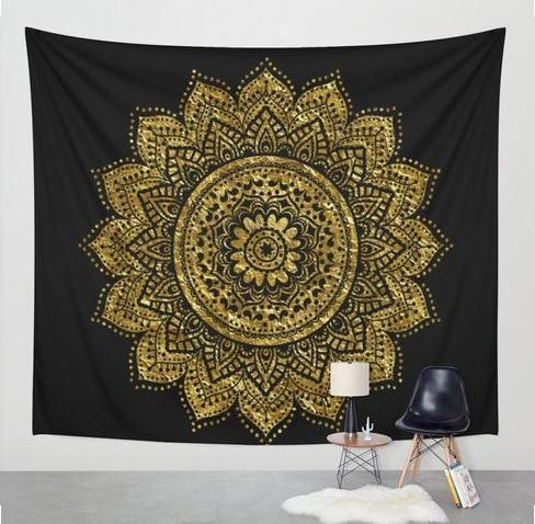 Beautiful Mandala Tapestry Tapestry Boho Peak M4 200cmx150cm