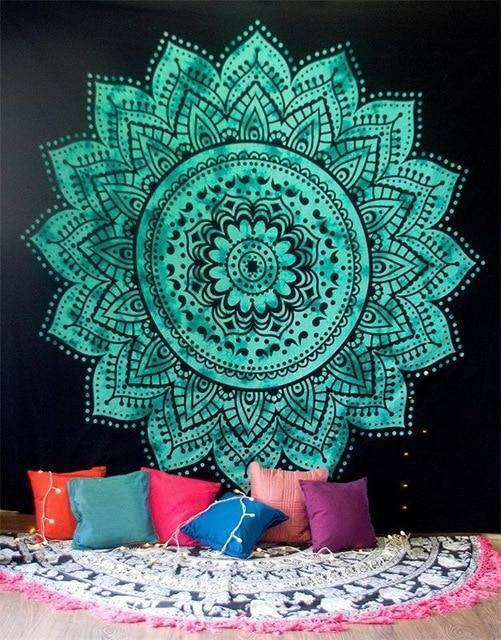 Beautiful Mandala Tapestry Tapestry Boho Peak O63 200cmx150cm