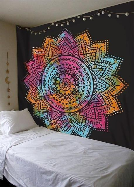 Beautiful Mandala Tapestry Tapestry Boho Peak O65 200cmx150cm