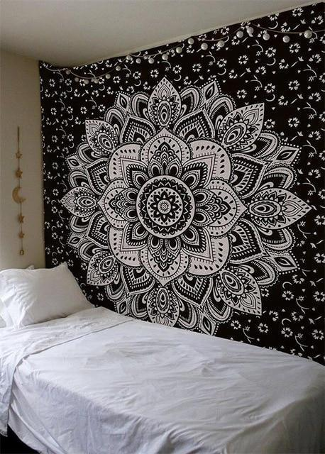 Beautiful Mandala Tapestry Tapestry Boho Peak O69 200cmx150cm