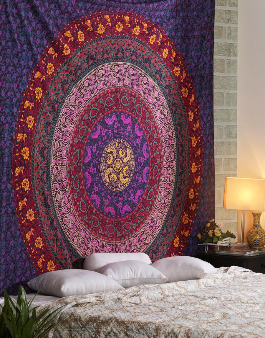 Beautiful Tibetan Mandala Tapestry