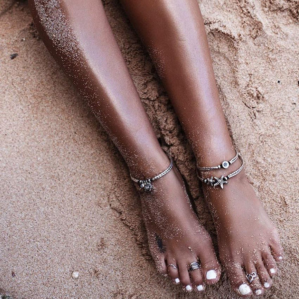 (Best Seller) Cute Boho Starfish Anklet Anklet Boho Peak