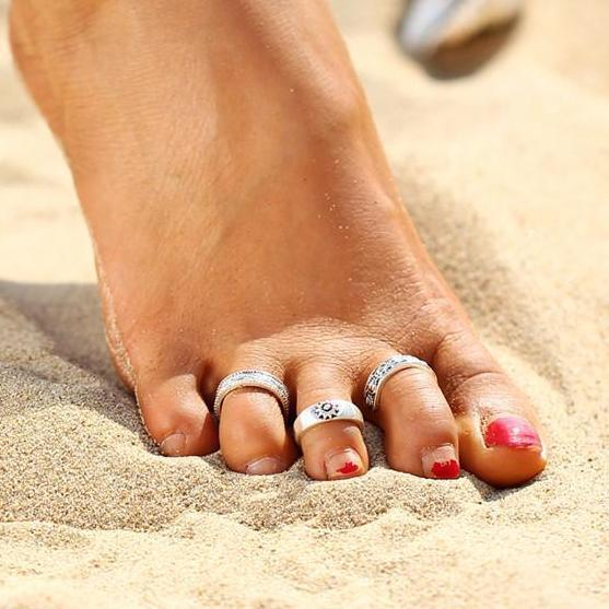 Bohemia Beach Toe Rings - 3 Piece Set (Adjustable) Boho Peak