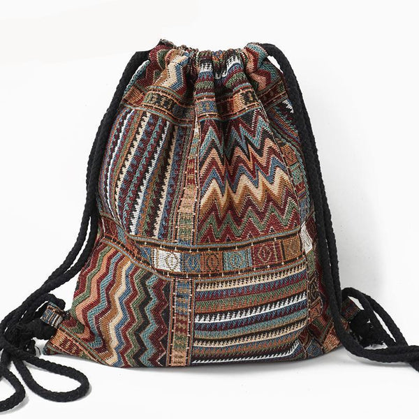 Bohemian Drawstring Backpack misc Boho Peak