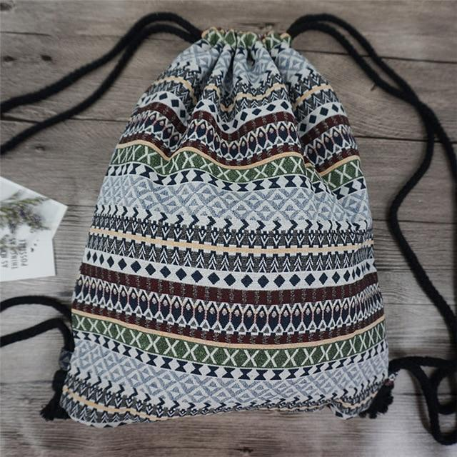 Bohemian Drawstring Backpack NO 10 misc