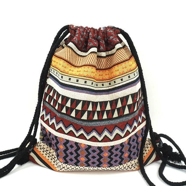 Bohemian Drawstring Backpack NO 13 misc