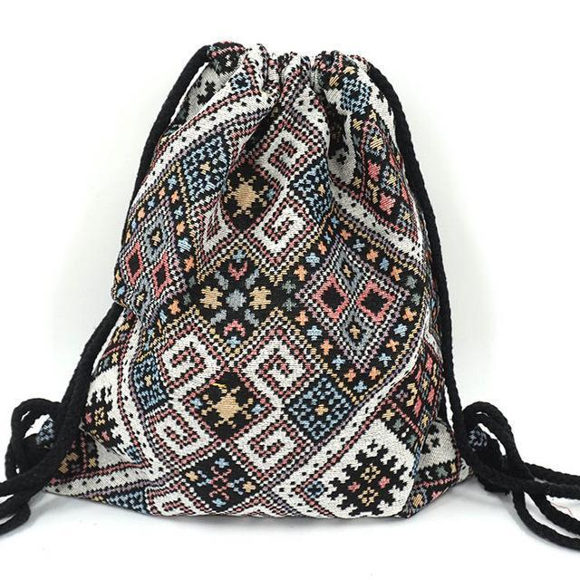 Bohemian Drawstring Backpack NO 17 misc