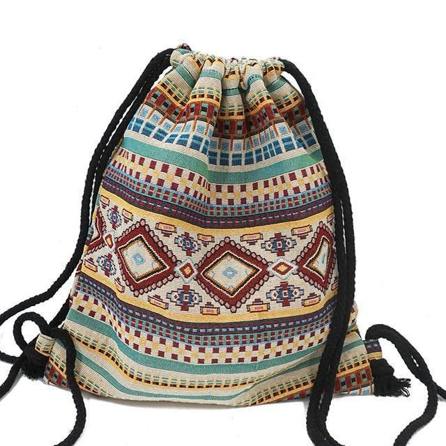 Bohemian Drawstring Backpack NO 18 misc