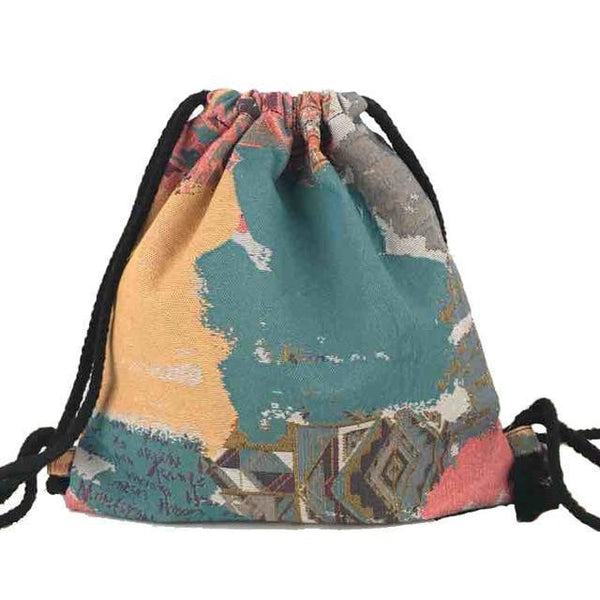 Bohemian Drawstring Backpack misc Boho Peak NO 19