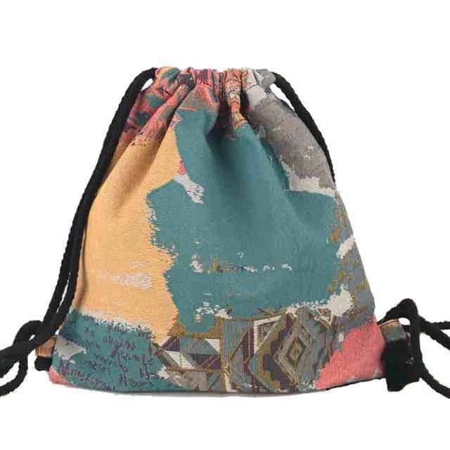 Bohemian Drawstring Backpack NO 19 misc