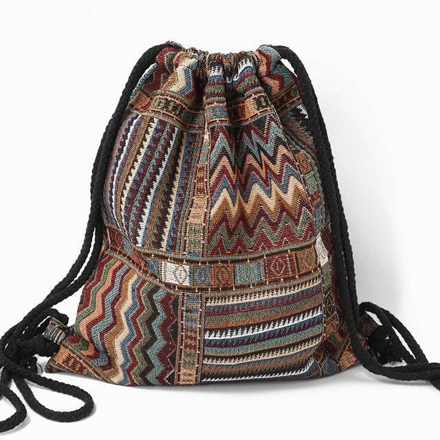 Bohemian Drawstring Backpack
