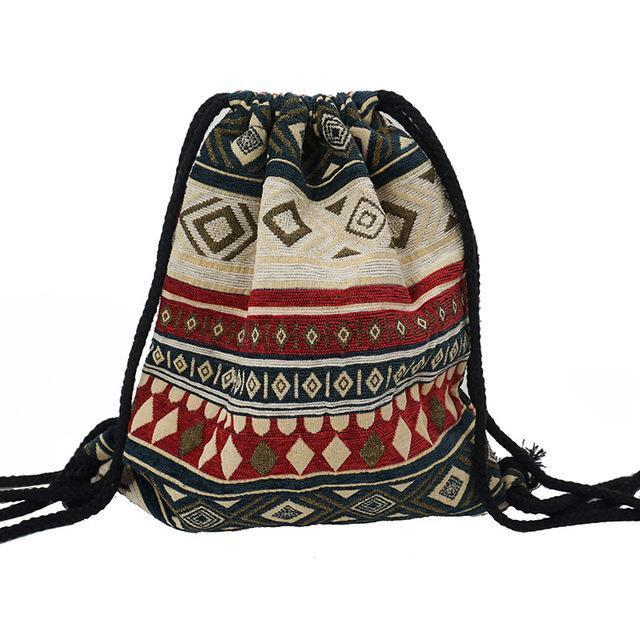 Bohemian Drawstring Backpack NO 20 misc