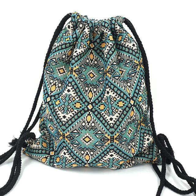 Bohemian Drawstring Backpack No 21 misc