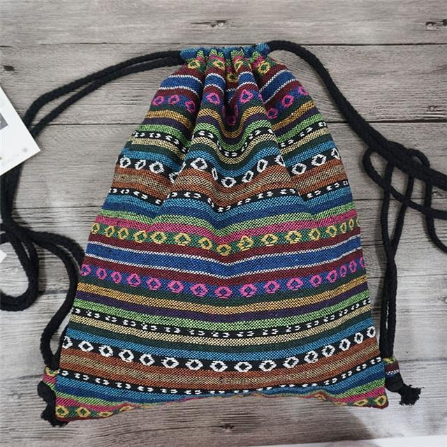 Bohemian Drawstring Backpack NO 4 misc