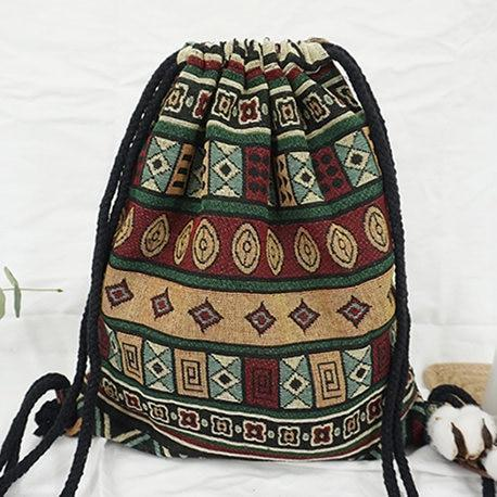 Bohemian Drawstring Backpack NO 6 misc