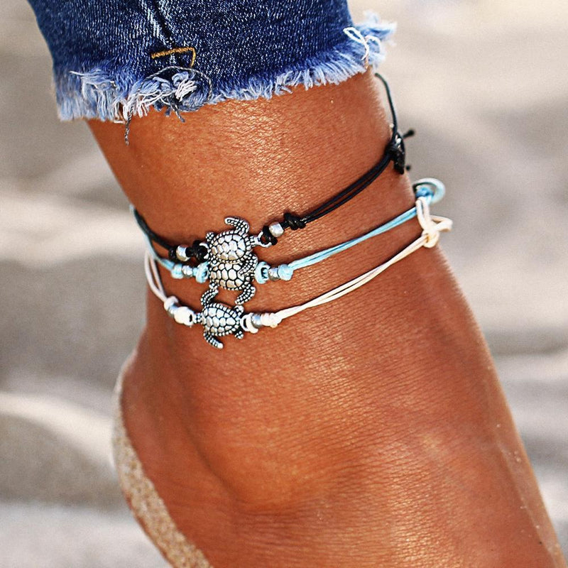 Boho Turtle Anklets (Set of 3) Anklet Boho Peak