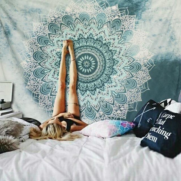 Bursting Mandala Tapestry Tapestry Boho Peak