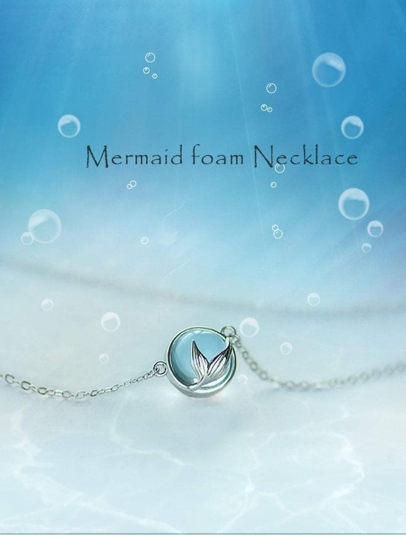 Crystal Mermaid Necklace (925 Sterling Silver) Boho Peak