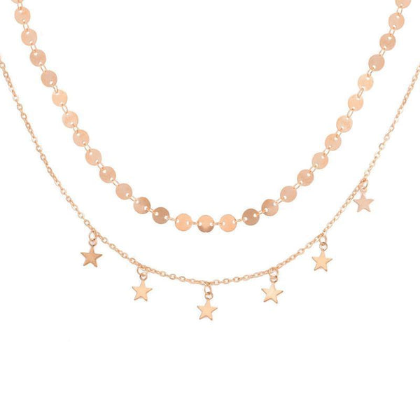 Dazzling Star Choker Necklace Boho Peak Gold