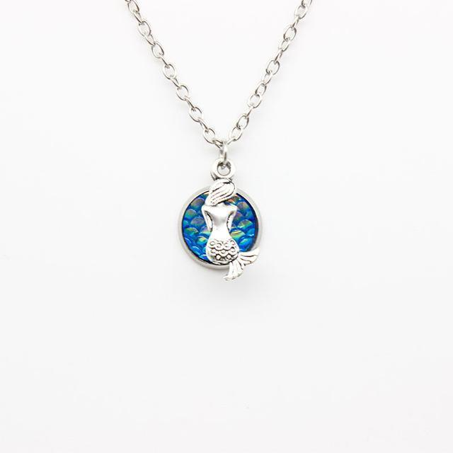 Glistening Little Mermaid Necklace Emerald