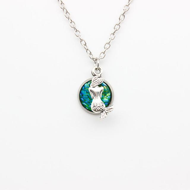 Glistening Little Mermaid Necklace Boho Peak