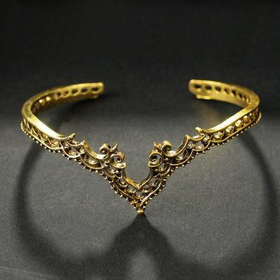 Handmade Bohemian Princess Bangle Gold