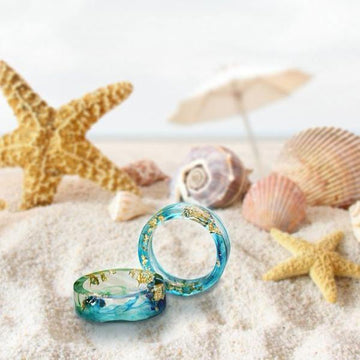 Handmade Ocean Ring 10 / Emerald