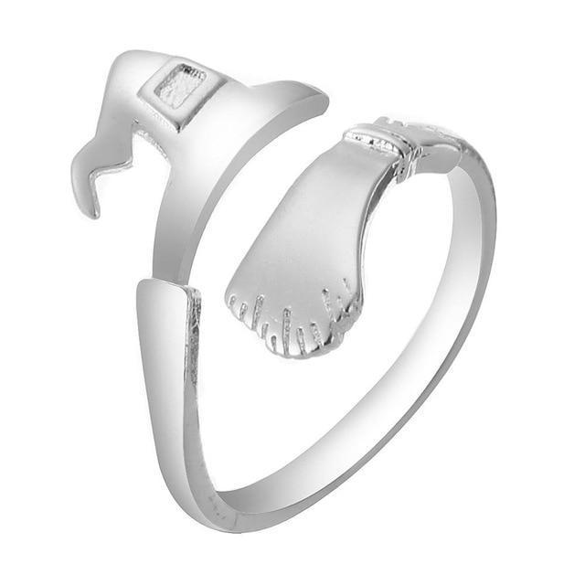 It's a Witch Thing Ring Boho Peak White