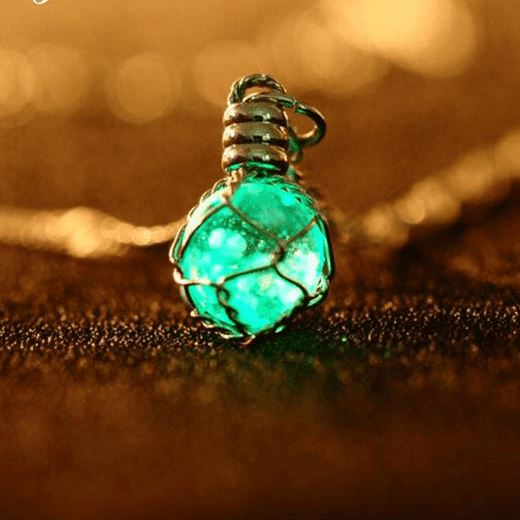 Oracle: The Luminous Crystal Ball Necklace Necklace Boho Peak green