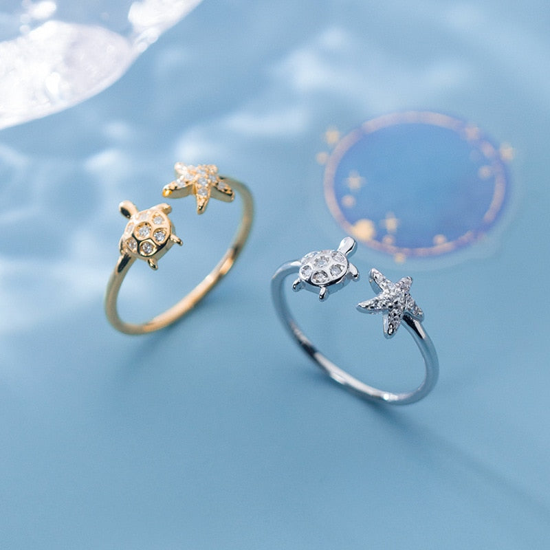 Shimmer Sea Turtle Ring