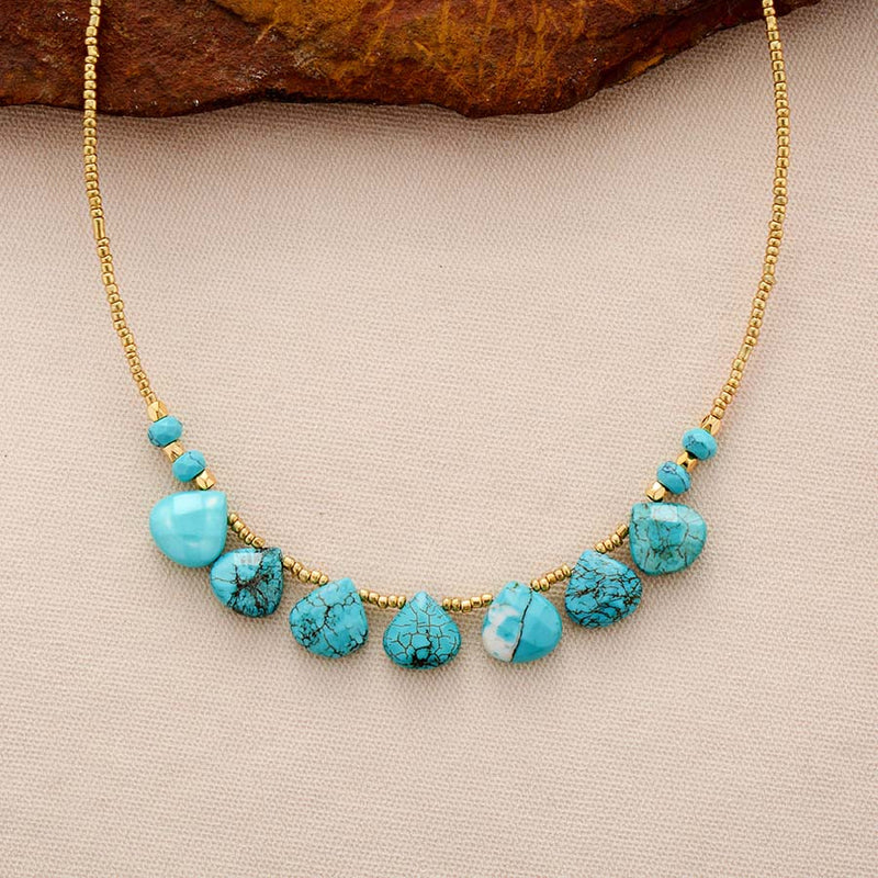 Heart Centered Turquoise Necklace