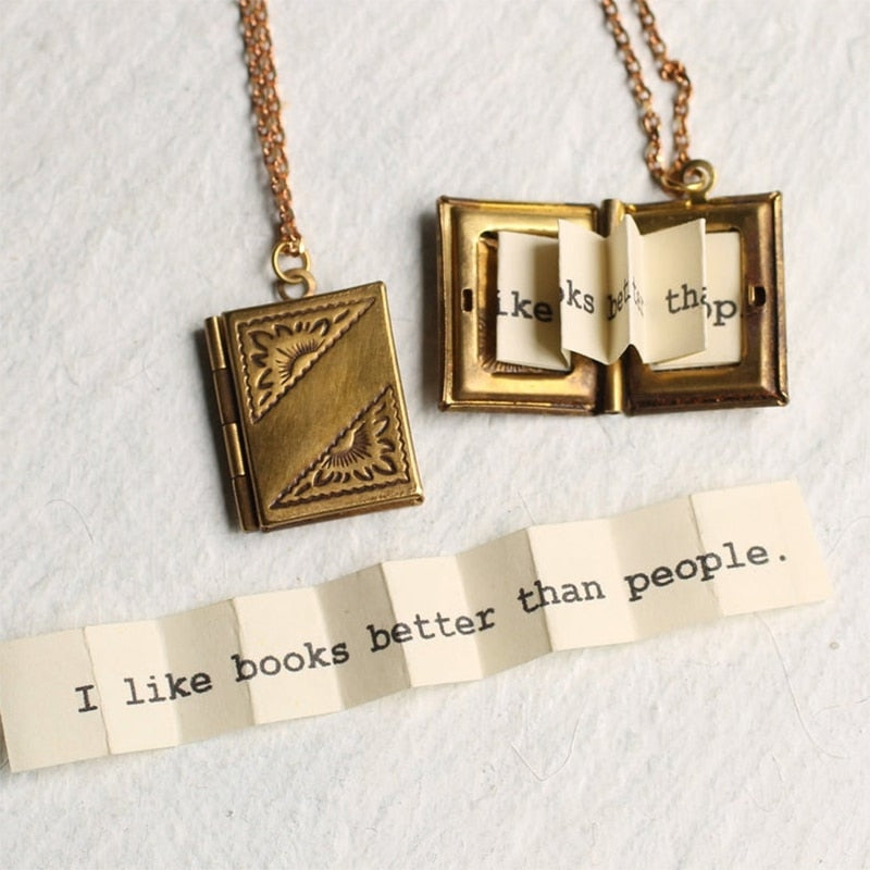Book Locket - I like Books Better than People